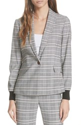 Ted Baker London Kimm Contract Cuff Check Blazer Grey