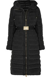 Moncler Imin Belted Quilted Shell Down Coat Black