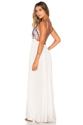 Raga Baja Sunset Backless Dress White