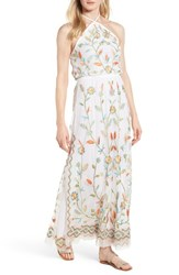 Kas New York Eve Embroidered Maxi Dress White