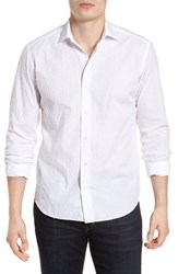 Culturata Tailored Fit Fil Coupe Sport Shirt White