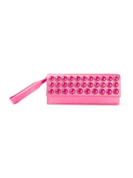 Alberta Ferretti Embellished Clutch Pink And Purple