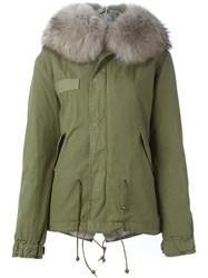 Mr And Mrs Italy Trimmed Hood Parka Cotton Rabbit Fur Green