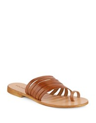 Cocobelle Palermo Leather Toe Ring Slides Brown