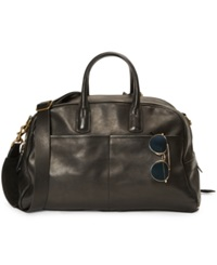 Polo Ralph Lauren Leather Sports Carryall Black