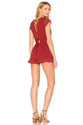 Lovers Friends Hey Babe Romper Red