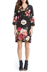 Karen Kane Women's Floral Lace Up Shift Dress Print