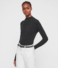 Allsaints Karla Knit Jumper Charcoal Grey