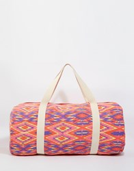 South Beach Aztec Print Barrel Beach Bag Multi