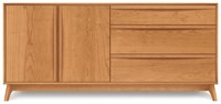 Copeland Furniture Catalina 3 Drawers On Right 2 Doors On Left Buffet