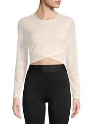 Plenty By Tracy Reese Long Sleeve Cropped Top White