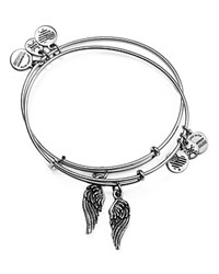 Alex And Ani Wing Expandable Wire Bangles Set Of 2 Silver