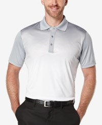 Pga Tour Men's Ombre Embossed Geo Pattern Performance Polo
