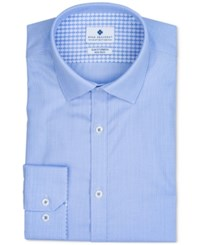 Ryan Seacrest Distinction Men's Ultimate Extended Sizing Slim Fit Non Iron Performance Stretch Light Blue Dobby Dress Shirt Created For Macy's Lt Pasblue