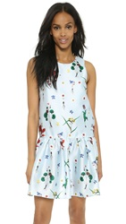 Re Named Floral Print Dress Light Blue
