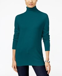 Jm Collection Petites Petite Turtleneck Sweater Only At Macy's Teal Abyss