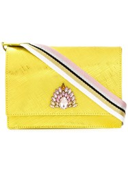 Gum Dolly Jewel Embellished Shoulder Bag Yellow And Orange