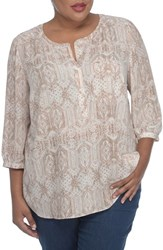 Nydj Plus Size Women's Henley Top