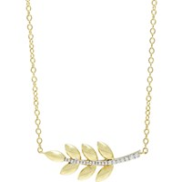 Finn Women's Diamond And Gold Leaf Pendant Necklace No Color