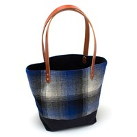 General Knot And Co. Vintage Landsdale Plaid Market Tote