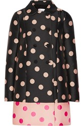Red Valentino Polka Dot Woven Coat Black