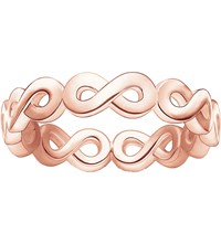 Thomas Sabo Infinity 18Ct Rose Gold Plated Ring