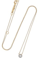 Suzanne Kalan 18 Karat Gold Diamond Necklace