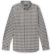 Beams Plus Gingham Cotton Flannel Shirt Black