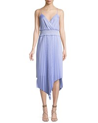 Saylor Kinsley Shirting Stripe Asymmetric Midi Dress Blue White