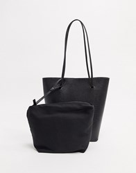 Topshop Shopper Bag In Black