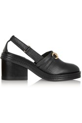 Purified Lauri Croc Effect Leather Pumps Black