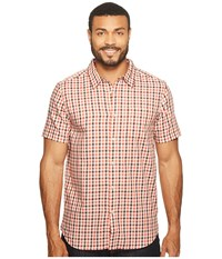 The North Face Short Sleeve Passport Shirt Sunbaked Red Plaid Men's Short Sleeve Button Up Pink