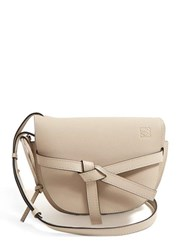 Loewe Gate Small Grained Leather Cross Body Bag Grey