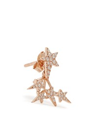 Diane Kordas Diamond And Rose Gold Star Earring
