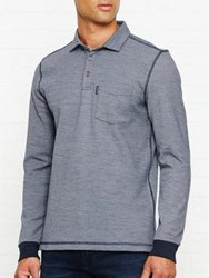 Aquascutum London Milton Ls Piquet Polo Navy