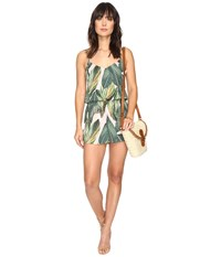 Show Me Your Mumu Rorey Romper Peachy Palm Women's Jumpsuit And Rompers One Piece Green
