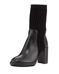 Aquatalia By Marvin K Imogen Ribbed Sweater Boot Black