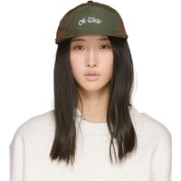 Off White Green And Brown Camo Snap Cap