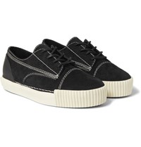 Alexander Wang Perry Rubber Trimmed Suede Sneakers Black