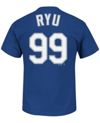 Majestic Men's Short Sleeve Hyun Jin Ryu Los Angeles Dodgers Player T Shirt