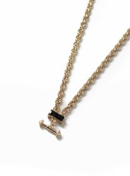 Topman Gold Look Arrow Pendant Necklace