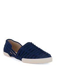 Elliott Lucca Rani Woven Leather Flats River Blue