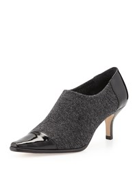 Levy Stretch Low Heel Bootie Gray Black Donald J Pliner Dark Grey Black