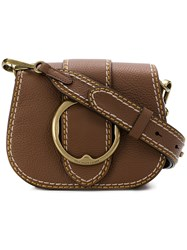 Polo Ralph Lauren Buckled Saddle Bag Brown