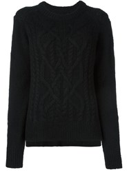 Isabel Marant Cable Knit Jumper Black