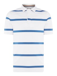Howick Men's La Fine Stripe Quilted Short Sleeve Rugby White