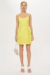 Topshop Scoop Back Prom Dress Yellow