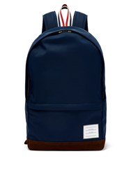 Thom Browne Logo Patch Nylon Backpack Navy
