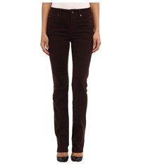 Miraclebody Jeans Katie Straight Leg Sueded Sateen Espresso Women's Casual Pants Brown