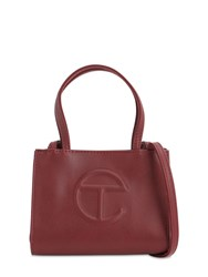 Telfar Small Embossed Faux Leather Tote Bag Oxblood